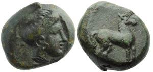 Sicily, Eryx, Bronze, c. 400-340 BC; AE (g ...