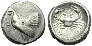 Sicily, Himera, Didrachm, c. 483-472 BC; AR ...