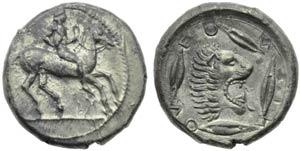 Sicily, Leontinoi, Didrachm, c. 475-455 BC; ...