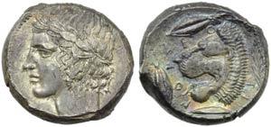 Sicily, Leontinoi, Tetradrachm, c. 455-422 ...