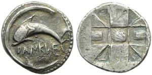 Sicily, Zankle, Chalkidian Drachm, c. ...