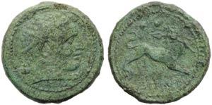 Campania, Capua, Biunx, c. 216-211 BC.; AE ...