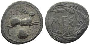 Sicily, Messana, Litra, c. 420-413 BC; AR (g ...