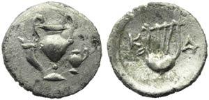 Apulia, Canusium, Obol, c. 300-250 BC; AR (g ...