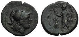 Apulia, Caelia, Semuncia, c. 220-150 BC; AE ...
