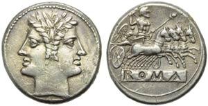 Anonymous, Quadrigatus, Rome, from 269 BC; ...