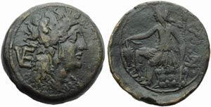 Apulia, Venusia, Nummus, c. 210-200 BC; AE ...