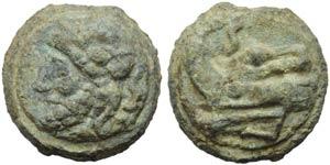Anonymous, Cast Semis, Rome, c. 215-212 BC; ...