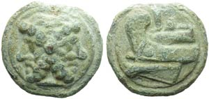 Anonymous, Cast As, Rome, c. 215-212 BC; AE ...