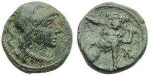 Apulia, Mateolum, Sextans, c. 210-150 BC; AE ...