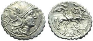 Anonymous (wheel series), Denarius serratus, ...