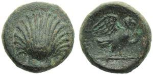 Apulia, Sturni, Bronze, c. 250-210 BC; AE (g ...