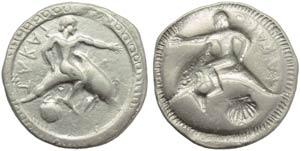 Apulia, Tarantum, Nomos, c. 510-500 BC; AR ...