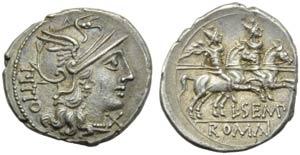 L. Sempronius Pitio, Denarius, Rome, 148 BC; ...