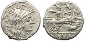 C. Antestius, Denarius, Rome, 146 BC; AR (g ...