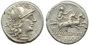 A. Spurilius, Denarius, Rome, 139 BC; AR (g ...