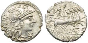 L. Antestius Gragulus, Denarius, Rome, 136 ...