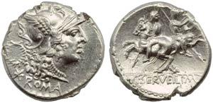 C. Servilius M.f., Denarius, Rome, 136 BC; ...