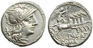 P. Maenius M.f. Antiaticus, Denarius, Rome, ...