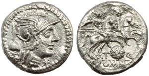 Ti. Quinctius Flamininus, Denarius, Rome, ...