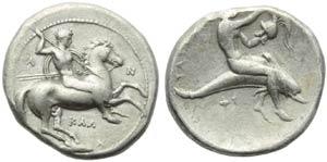 Lucania, Tarentum, Nomos, c. 380-340 BC; AR ...