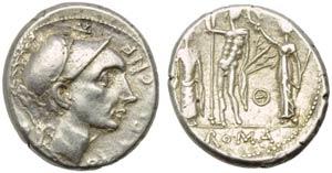 Cn. Cornelius Blasio Cn.f., Denarius, Rome, ...