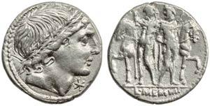 L. Memmius, Denarius, Rome, 109 or 108 BC; ...