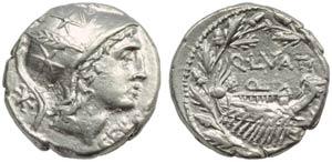 Q. Lutatius Cerco, Denarius, Rome, 109 or ...