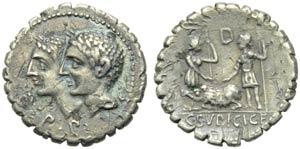 C. Sulpicius C.f. Galba, Denarius serratus, ...