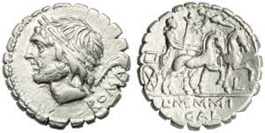 L. Memmius Gal(eria tribu), Denarius ...