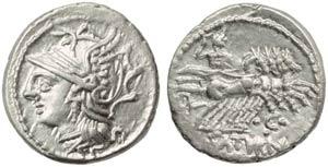 L. Appuleius Saturninus, Denarius, Rome, 104 ...