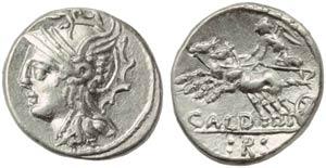 C. Coelius Caldus, Denarius, Rome, 104 BC; ...
