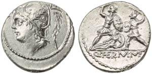 Q. Minucius Thermus M.f., Denarius, Rome, ...