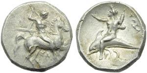 Apulia, Tarentum, Nomos, c. 290-281 BC; AR ...