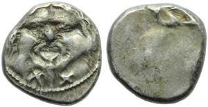 Etruria, Populonia, 20 Units, c. 400 BC; AR ...