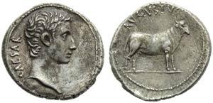 Augustus (27 BC - AD 14), Denarius, Greece: ...