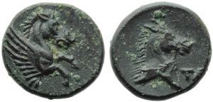 Apulia, Taranto, Bronzo, c. 275-200 a.C.; AE ...