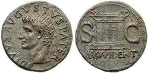 Divus Augustus (Tiberius, 14-37), As, Rome, ...