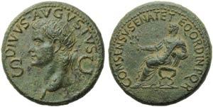 Divus Augustus (Gaius, 37-41), Dupondius, ...