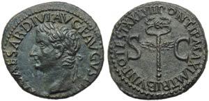 Tiberius (14-37), As, Rome, c. AD 14-37 ; AE ...