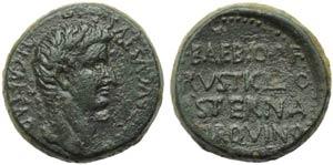 Tiberius (14-37), Bronze, Macedonia: Pella ...