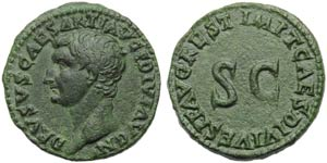 Drusus Minor (Titus, 79-81), As, Rome, AD ...