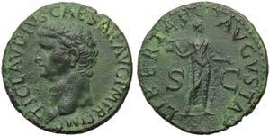 Claudius (41-54), As, Rome, AD 50-54; AE (g ...