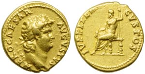 Nero (54-68), Aureus, Rome, c. AD 64-65; AV ...