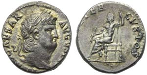 Nero (54-68), Denarius, Rome, c. AD 64-65; ...
