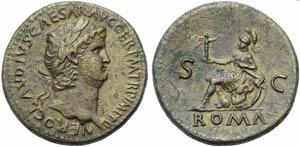 Nero (54-68), Sestertius, Rome, c. AD 64-67; ...
