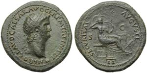 Nero (54-68), Dupondius, Lugdunum, c. AD ...