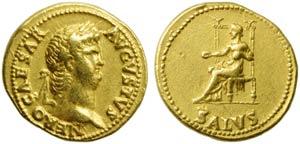 Nero (54-68), Aureus, Rome, c. AD 65-66; AV ...