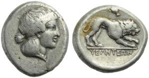 Lucania, Velia, Didracma, c.400-340 a.C.; AR ...