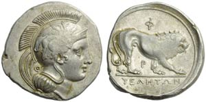 Lucania, Velia, Didracma, c. 340-334 a.C.; ...